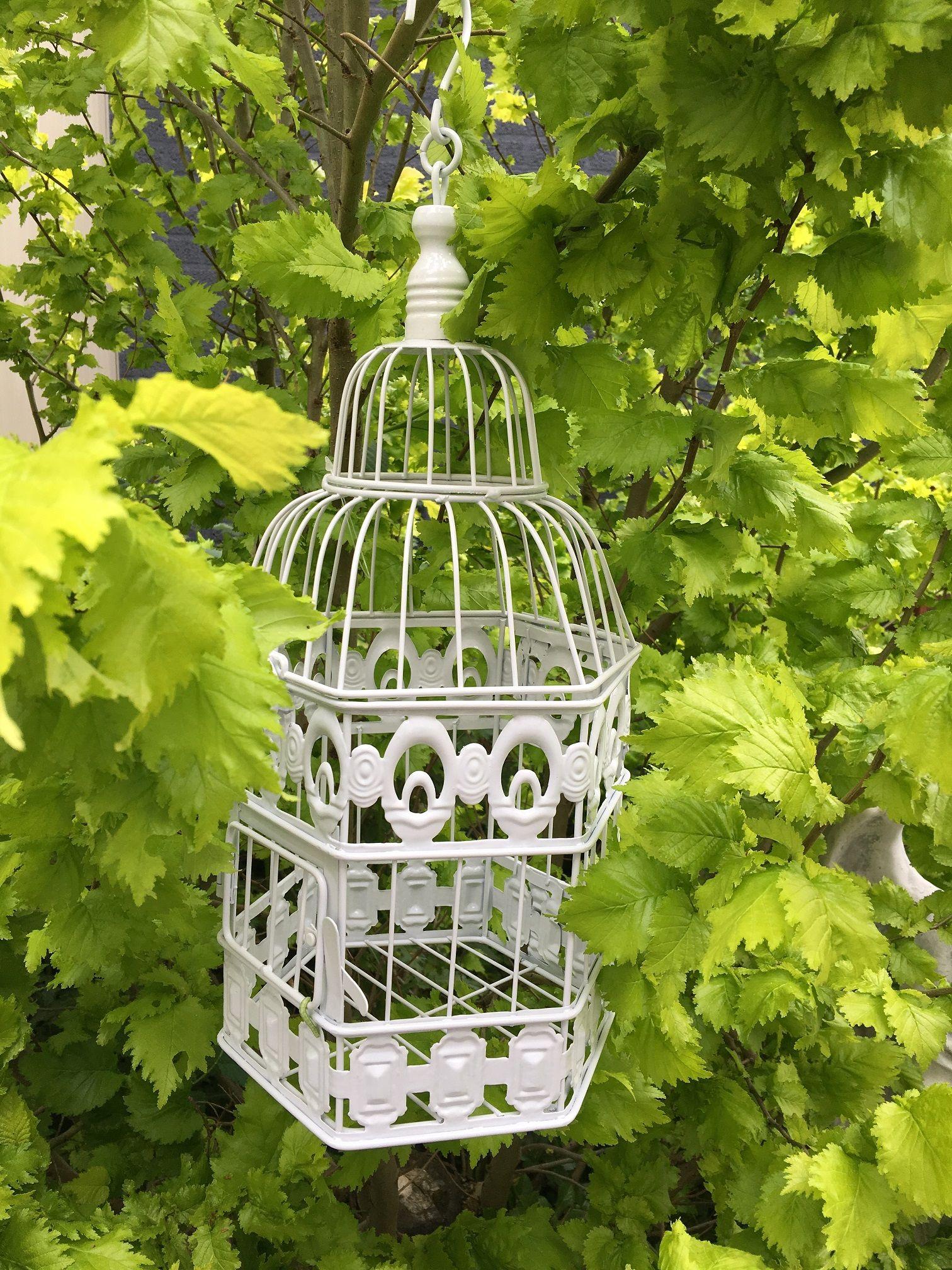 Vogelkooi hangmand decoratieve kooi metalen bloemen hangmand hangmanden balkon patio - Deco kooi trap ...