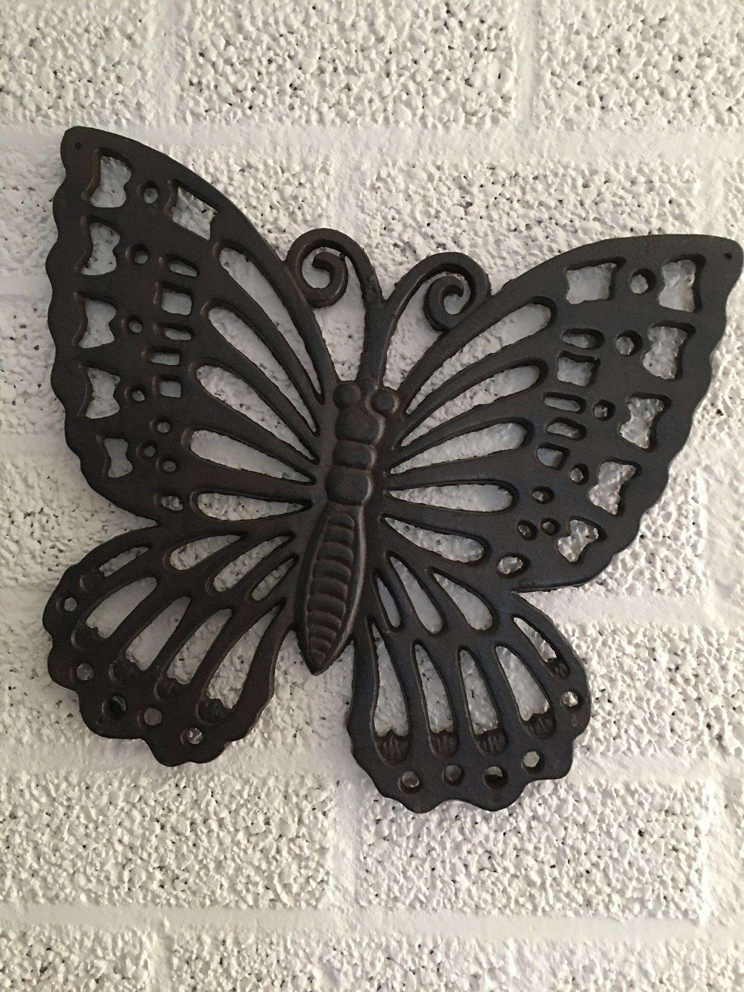 Muurvlinder wanddecoratie metaal dieren insecten tuin - Deco huis exterieur ...