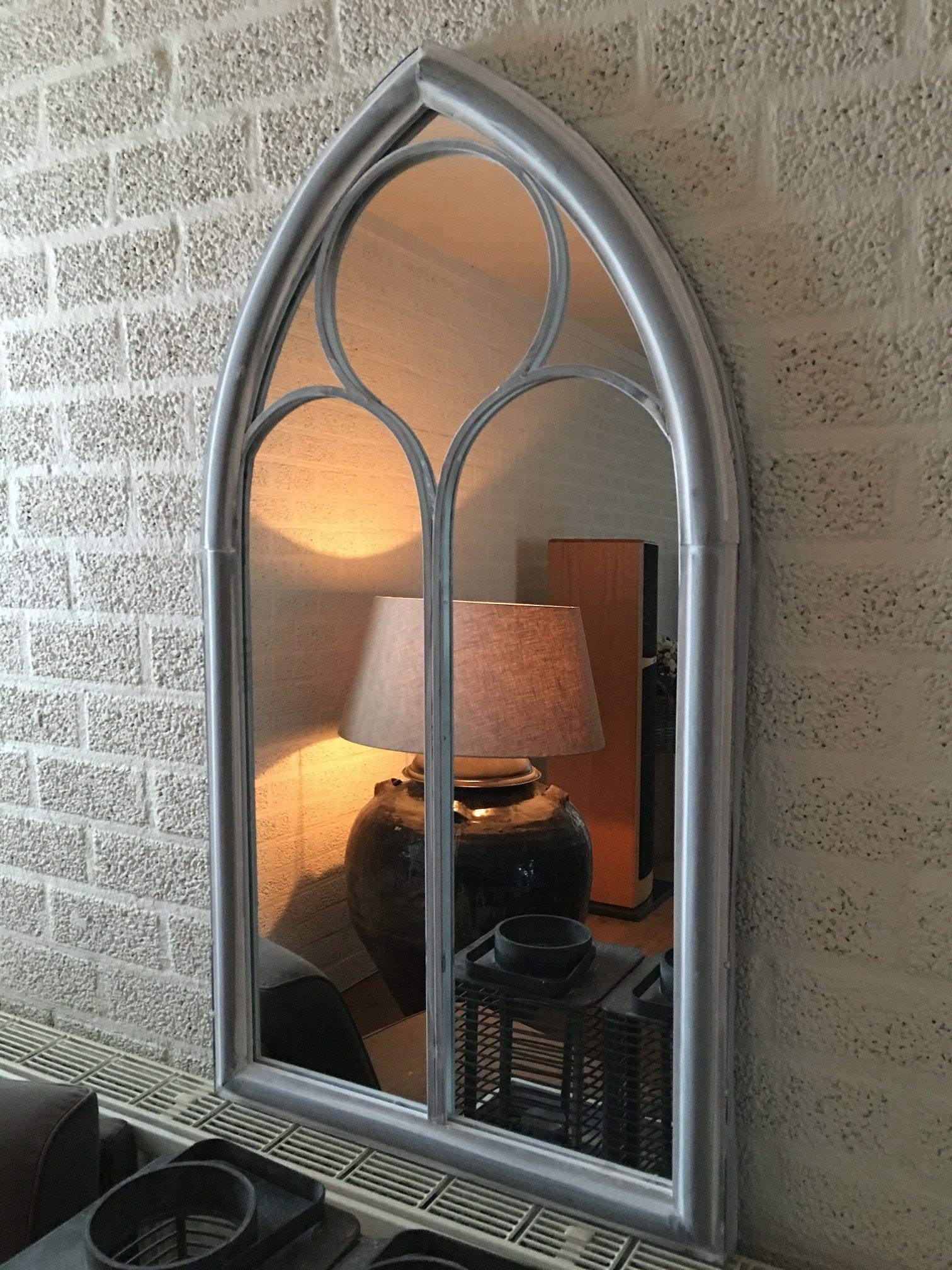Grote forse kerkspiegel heel fraai in vorm deco rustique be - Huis deco exterieur ...