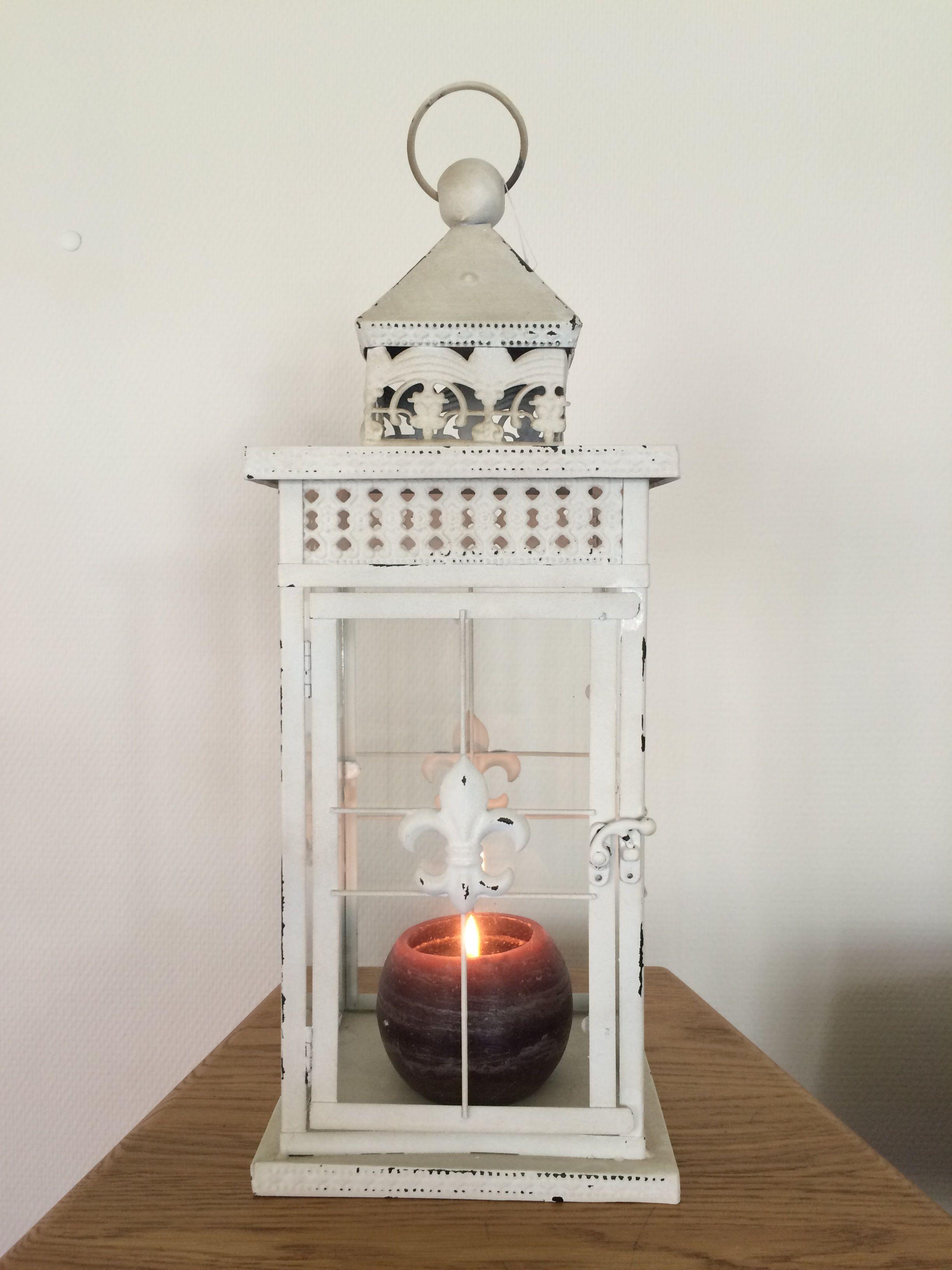 Stormlantaarn white rust metaal deco rustique be - Deco huis exterieur ...