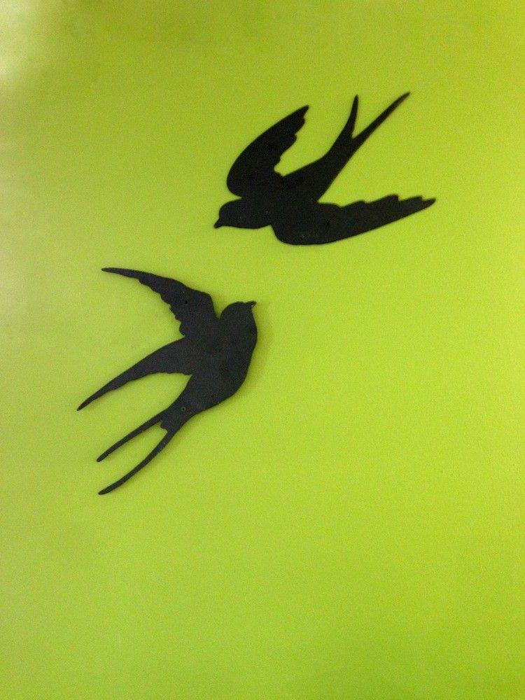 Tags slik decoratie met zwaluwen vogel decoratie metalen wanddecoratie terras decoratie - Ijzer terras ...