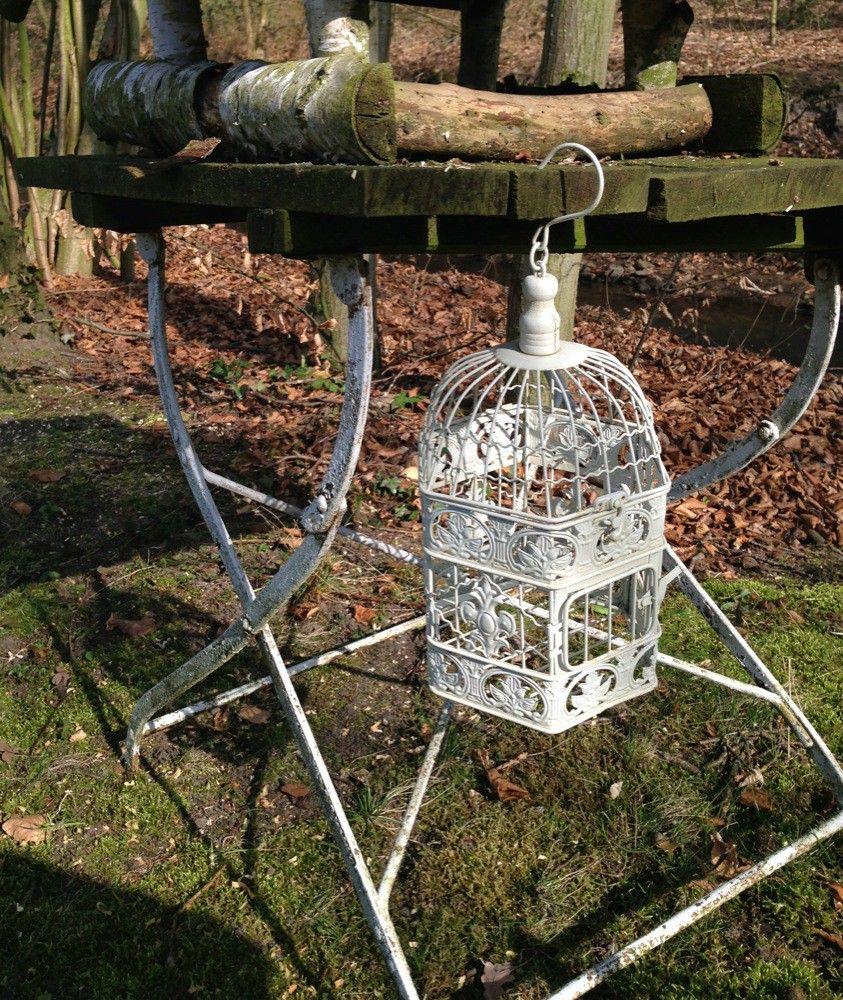 Kooi vogel huis sieraden kooi vogelkooi decoratief kooi metalen bloem hangende mand hang - Deco kooi trap ...