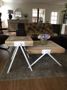 Salon tafel Square wit