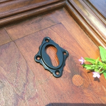 Nostalgische rozetten deur set - Antique door look knock door Set - Zwart